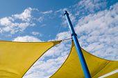 yellow pleasure with blue sky
