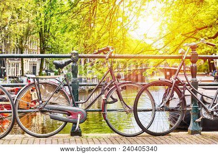 Bicycles On The Bridge In