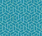 The Geometric Pattern With Lines. Seamless Vector Background. White And Blue Texture. Graphic Modern poster