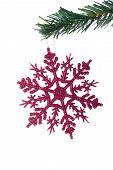 Christmas Object Hanging On Fir Tree
