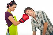 Angry Wife Boxing Husband