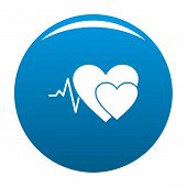 Cardiology Icon. Simple Illustration Of Cardiology Vector Icon For Any Design Blue poster