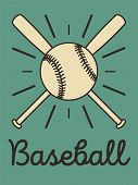 Baseball Typographical Vintage Style Poster. Baseball Label, Badge, Icon. Retro Vector Illustration. poster