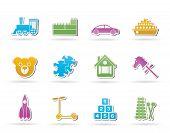 Verschiedene Arten von Spielzeug-Icons