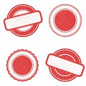 Vector Stamp Without Text. Set Of Stamps . Red Stamps . Grunge Rubber Texture Stamp . Distressed Sta poster