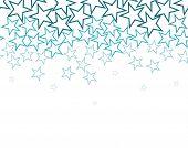 Fundo de estrelas sobre branco