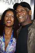 LOS ANGELES - APR 12: Danny Glover and wife at the World Premiere of 'Death At A Funeral' held at th