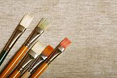 different paint brushes
