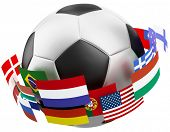 3d world soccer ball.