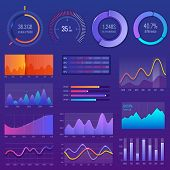 3d Chart And Graphic. Diagram With Options And Workflow Charts. Business Diagram Data Finance, Infog poster