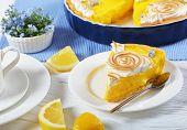 Постер, плакат: Piece Of Classic French Lemon Tart