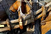 stock photo of galleon  - The Russian replica galleon the Shtandart docked in Dordrecht - JPG
