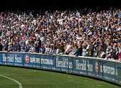 MELBOURNE - SEPTEMBER 24 : Crowd at Geelong's preliminary final win over West Coast on September 24, 2011 in Melbourne, Australia.