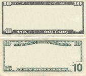 Clear 10 Dollar Banknote Pattern