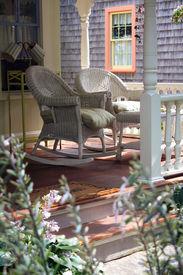 image of cape-cod  - Rocking Chairs on a Martha - JPG