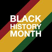 African American History Or Black History Month. Celebration Vector Template Design poster