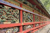 Wall Of Japanese Shinto Buddhist Temple