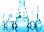 Equipo de química cristal