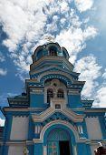 Orthodox Church over Blue Sky