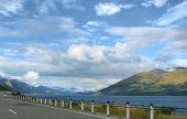 Road Along Lake