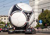Statue Of Official Euro 2012 Football Ball - Adidas Tango 12.