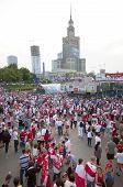 Polish Fans At Warsaw Streets