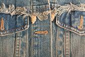 old blue jeans background