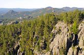 Black Hills rock formations along the Needles Highway