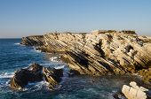 Sharp Sedimentary Rocks Of Baleal Island
