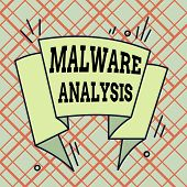 Writing Note Showing Malware Analysis. Business Photo Showcasing Performs Deep Analysis Of Evasive A poster