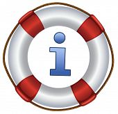 a closeup picture of lifebuoy on a white background