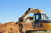 Power Shovel And Bucket Loader