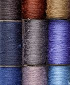 foto of lurex  - bobbins of lurex thread - JPG