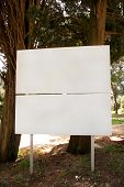 Street Blank Advertising Billboard Display, Announcement Table. Advertising Agencies. Billboard With poster