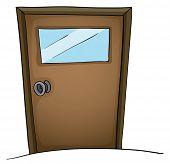 Abbildung einer isolierten Tür
