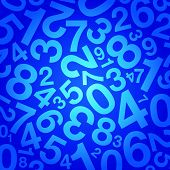 blue number background