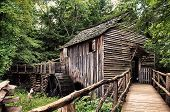 stock photo of cade  - Old Mill outside of Gatlinburg in Cades Cover Tennessee - JPG