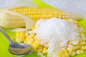 Corn Boil Strew With Coconut & Sugar
