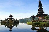 Lake Temple Bali Blue Dawn Sky