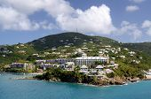Island scene at Charlotte Amalie, St. Thomas, US Virgin Islands.