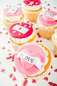 Valentines Day Pink And Red Cupcakes poster