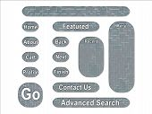 Acu Universal Army Urban Camouflage Effect Web Interface Buttons