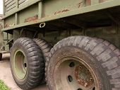 Original Old Army Truck Tires