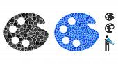 Artistic Palette Composition Of Small Circles In Various Sizes And Color Hues, Based On Artistic Pal poster