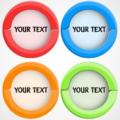 Set Of Rcolorful Buttons