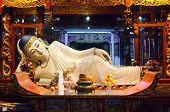 Reclining Buddha At The Jade Buddha Temple, Shanghai, China poster