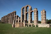 A Roman Aqueduct In Merida, Spain