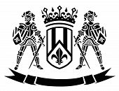 ?oat of arms with knights