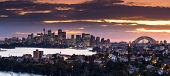 stock photo of cbd  - Looking across Sydney Harbor from Mosman and Cremorne - JPG