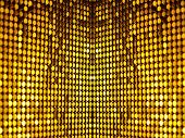 stock photo of carnival brazil  - Golden black sequins textile background for disco - JPG